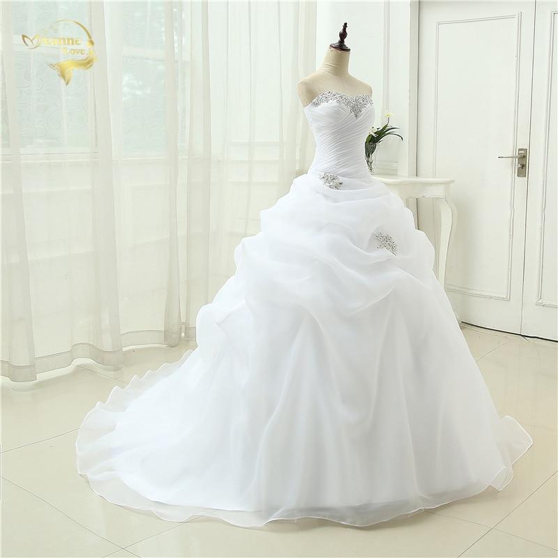 Горячая распродажа Новое поступление Vestido De Noiva ТРАПЕЦИЕВИДНОЕ свадебное платье с бисером белого цвета и цвета слоновой кости Robe De Mariage Casamento OW3199