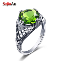 100 Of The European Royal Classic Antique Impressive Peridot Ring 925 Sterling Silver Ring Fashion And