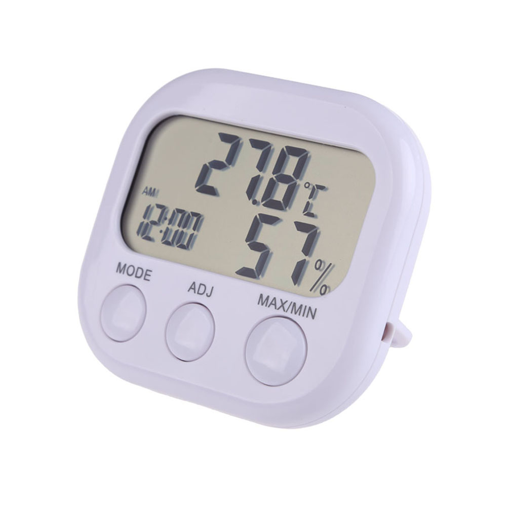 Delicate Digital LCD Thermometer Hygrometer Clock Temperature Humidity Meter Gauge Brand Smart Thermometer BS