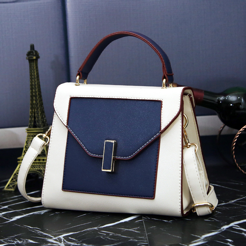 2017 Fashion Messenger Bags Women Leather Handbags Famous Brand Designer Women Hasp Tote Bag Patchwork Shoulder Bags Sac A Main luxury handbags women bags designer brand famous scrub ladies shoulder bag velvet bag female 2017 sac a main tote