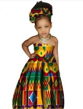 جديد وصول موضة 2018 الأطفال اللباس زائد الحجم XS-3XL الأفريقية