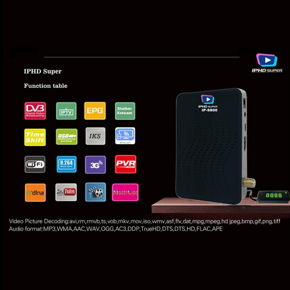 Professional Small Size Full HD 1080P DVB-S2 Smart TV Box Support WIFI 3G Network IPHD Satellite Receiver