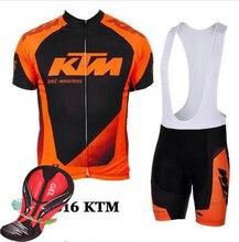 KTM Ropa Ciclismo Team Riding Bike Jersey Cycling Clothing MTB Cycling Jersey Bib Shorts Set Bicycle Equipment Clothes Bike Wear