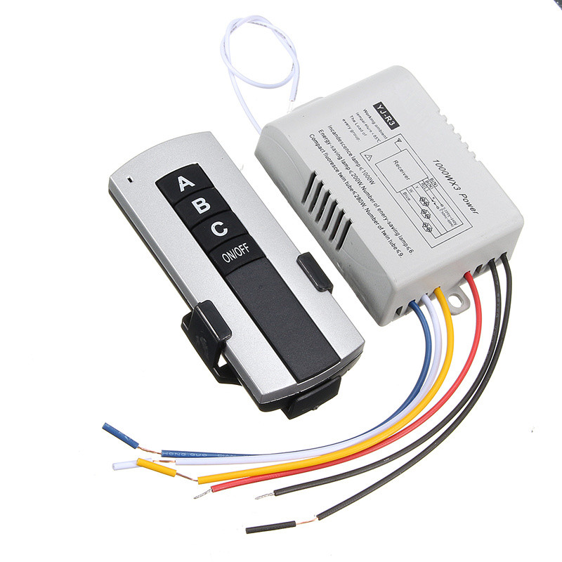 1/2/3 Ways ON/OFF 220V Wireless Remote Control Switch Digital Remote Control Switch for Lamp & Light Best Price