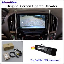 Liandlee For Cadillac CTS 2013-2017 Original Display Update System Car Rear Reverse Parking Camera Digital Decoder Rear camera liandlee original screen update system for cadillac xts xt5 2013 2017 rear reverse parking camera digital decoder rear camera