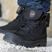 new hot Military boots PALLADIUM Men's High Canvas boots Outdoor activity Dark Boots Street tide boots size 39-45 free shipping