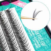 Natural False Eyelashes High Quality Makeup Eye Lashes Encryption Silk C Curl Fake Dovetail fly Eyelash Extension