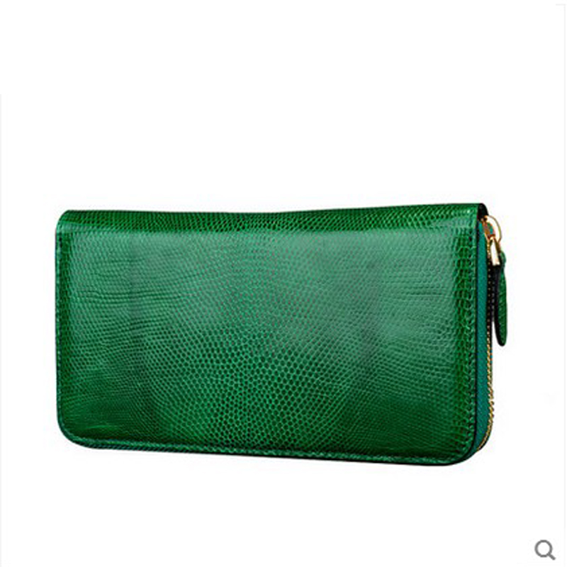 jialante Lizard leather women clutch bag female lizard leather long zipper women wallet with a bag of simple girl jialante 2017 new lizard leather bag is made of simple small shell bag customized for 15 days
