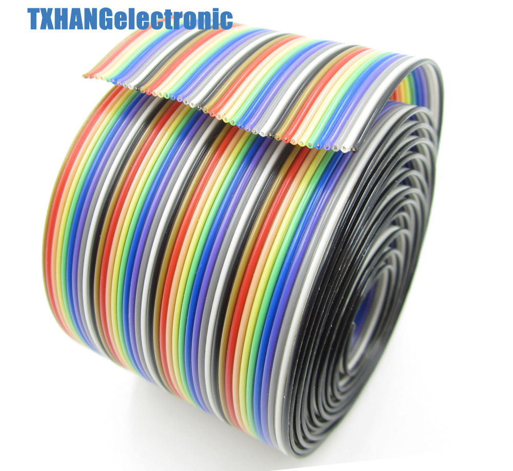 1 Mt 3.3ft 40 Way 40 pin Flache Farbe Regenbogen band kabel IDC ...