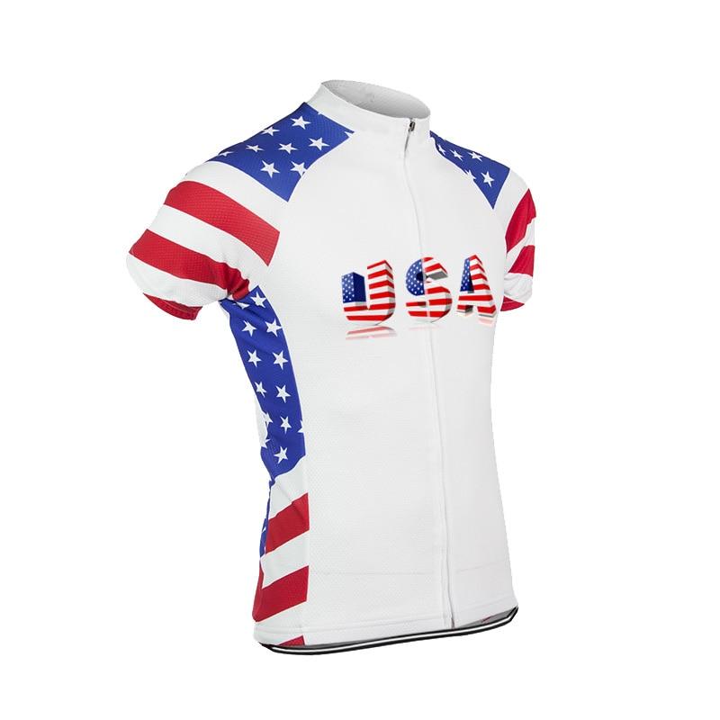 Pro Team Radfahren Jersey Klassische USA Radtrikot Fahrrad Top Trikots Ropa Ciclismobib Rennrad Kurzarm Radfahren Tops