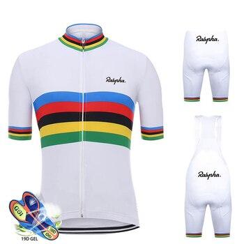 цена на Cycling Jersey Set 2020 Pro Team white Cycling Clothing MTB Cycling Bib Shorts Bike Jerseys Set Ropa Ciclismo Hombre Cycling Kit