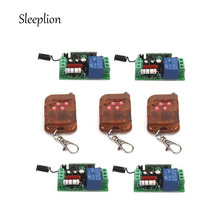 Sleeplion Home Circuit AC 220V 10A 1CH Relay 4 Receiver 3 4-key wireless RF Control Switch Transmitter