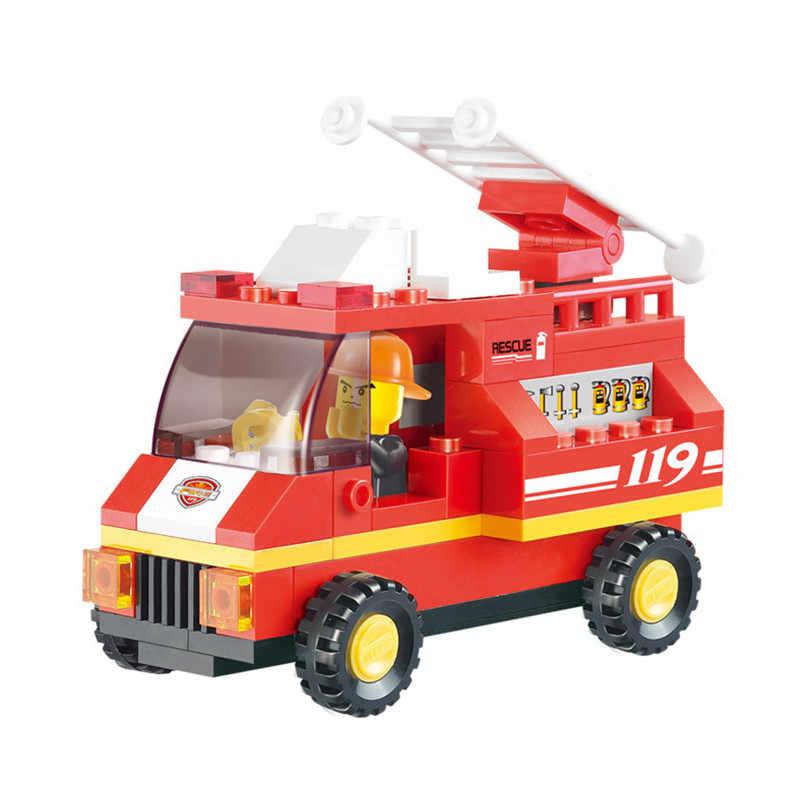 SLUBAN 371 قطع مركز اطفاء ABS Legoings اللبنات DIY طائرة شاحنة طوب البناء للأطفال هدايا