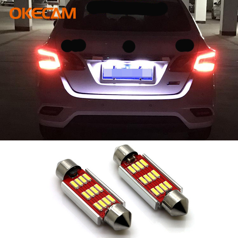 FOR AUDI A3 A4 A5 A6 TT XENON WHITE 3 LED SMD 36MM CANBUS NUMBER PLATE BULB