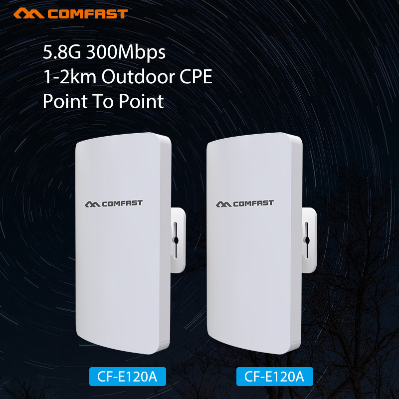 2Pcs 300Mbps Wifi Repeater Outdoor CPE WI FI Router Wifi Extender 1-2KM Distance Access Point AP Router WDS WIFI Bridge CPE