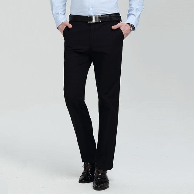 Men Formal Wear Suit Pants Good Quality Men Smart Casual Straight Trousers  Large Size Men Formal Suit Pants Size 40 e786580bdb26