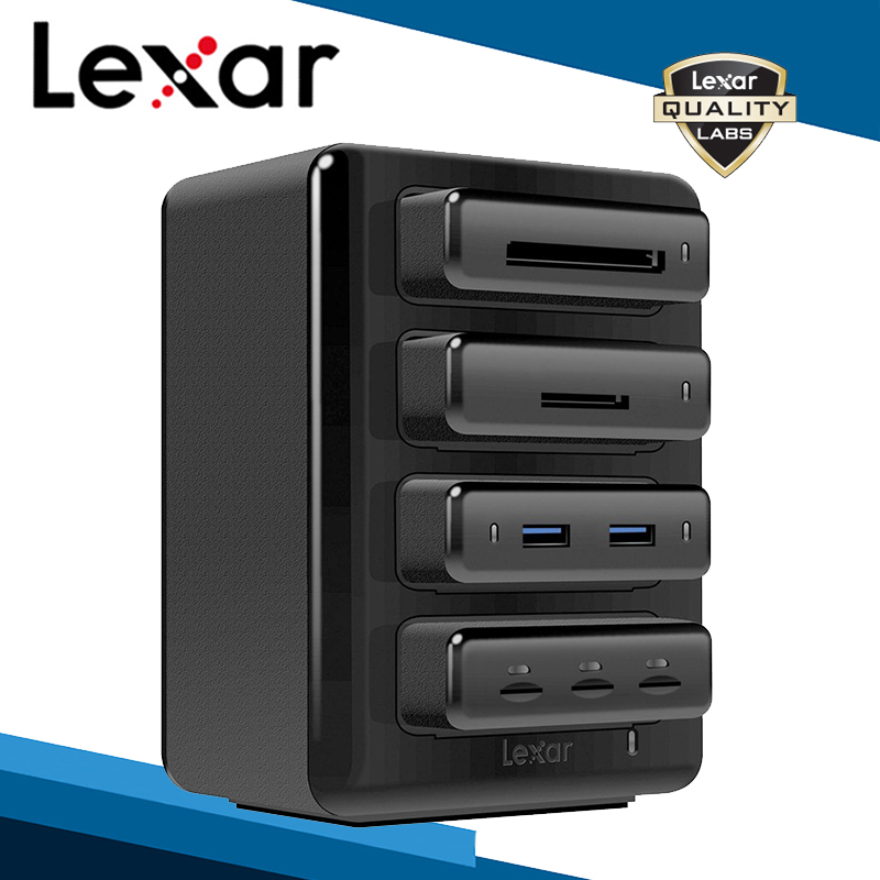 Lexar Professional Workflow Line Two-port Hub Three-slot Micro SDHC SDXC UHS-I UHS-II Reader CF CFast USB 3.0 Reader Card Reader