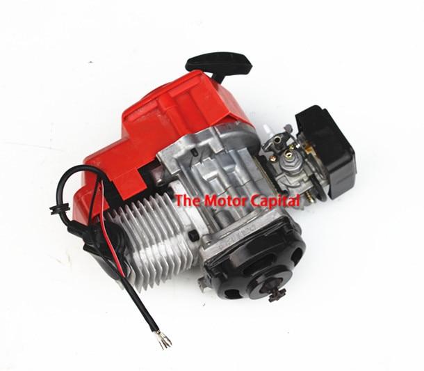 Prix pour 7 dents 43cc 47cc 49cc 2 TEMPS MOTEUR + câble d'accélérateur comp MOTEUR MINI QUAD ROCKET POCKET BIKE mini quad pour 25 h chaîne
