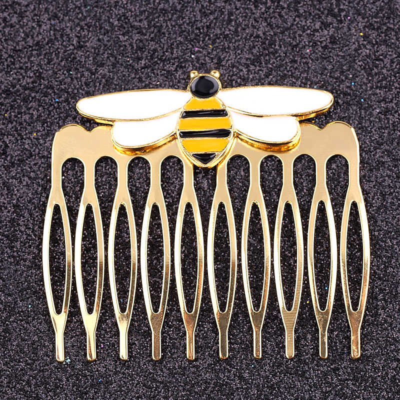 Miraculous Queen Bee Hairwear Color Gold Silver Hair Comb Ladybug Anime Girls