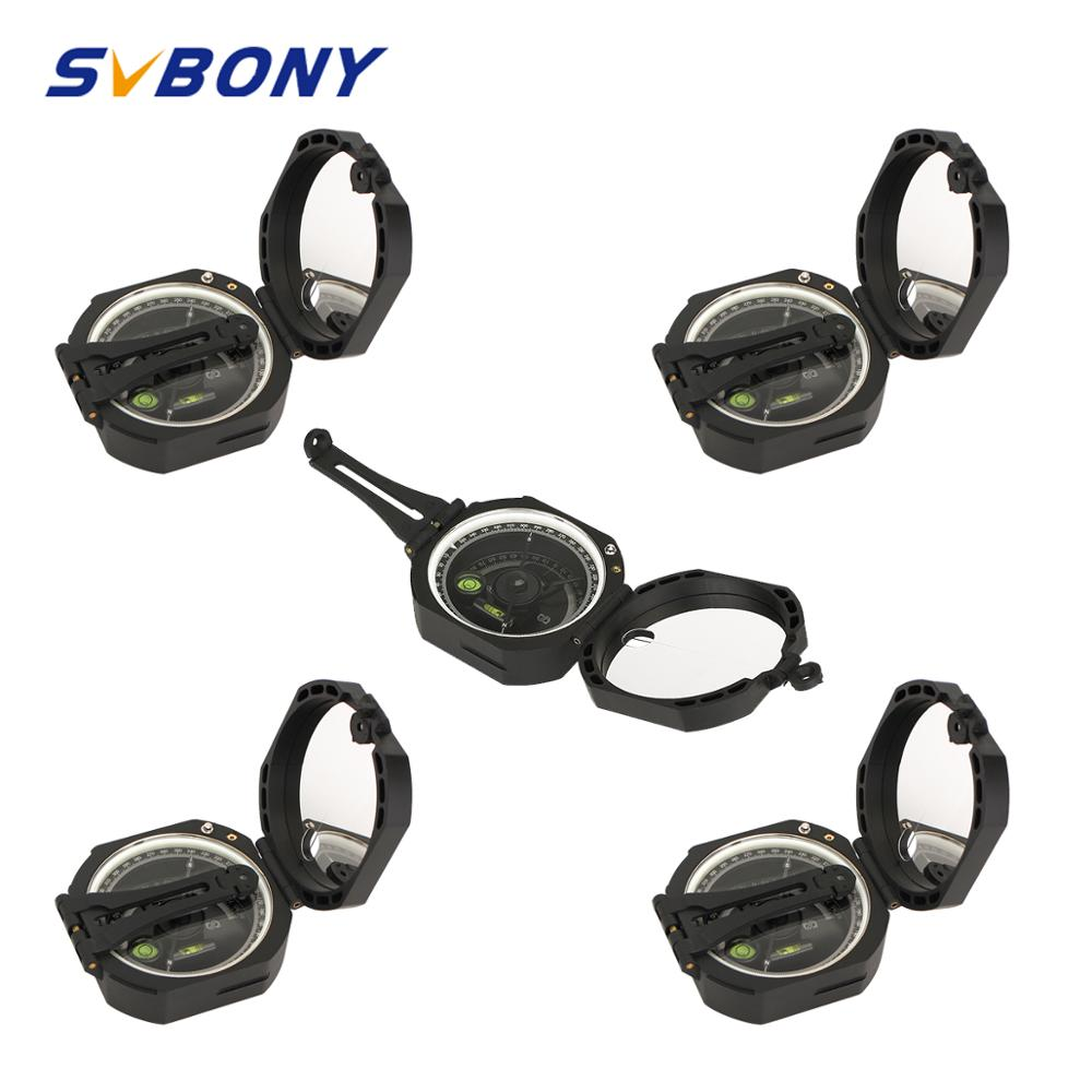 5 pcs SVBONY Compass Professional Military Outdoor Survival Camping Equipment Pocket Compass Lightweight Wholesale F9134