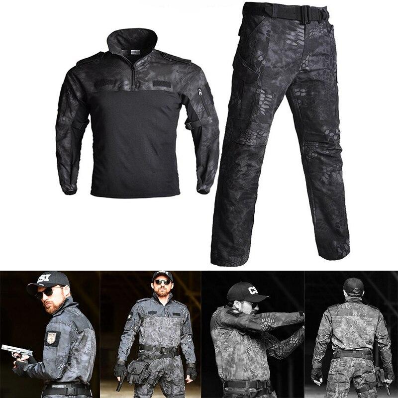 Tactique hommes à manches longues Sport Ghillie costume FG armée militaire Combat uniforme Camouflage Airsoft Paintball chasse vêtements