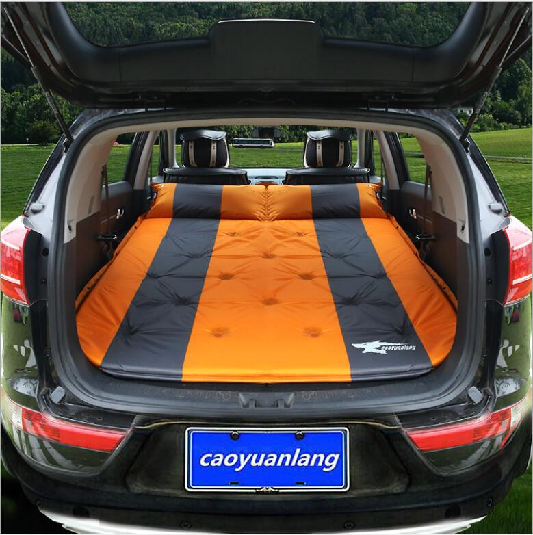 Automatic Inflatable SUV combination Car Back Seat Cover Car Air Mattress Travel Bed Inflatable Mattress Air Bed Car Bed car travel inflatable mattress car inflatable bed suv back seat extended mattress with repair pad glue kits air pump for travel