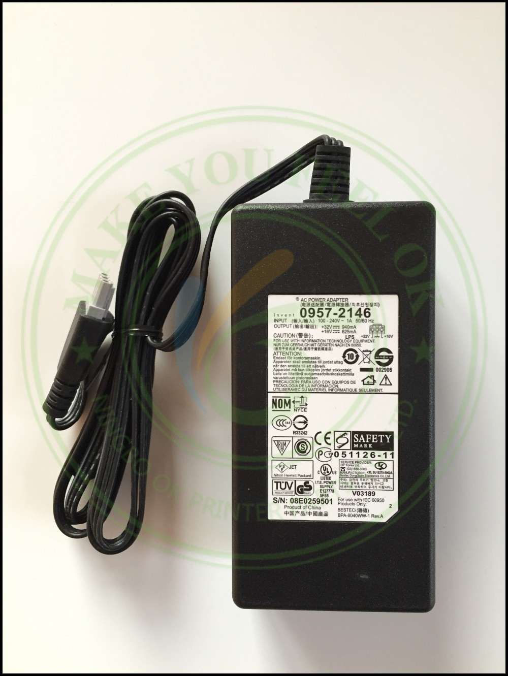 цена на ORIGINAL NEW 0957-2178 0957-2146 0957-2166 AC Power Adapter Charger 100 - 240V 1A 50/60Hz 32V 940mA 16V 625mA for HP printer