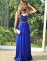 Свадебные платья феста 2015 длинные платья выпускного вечера Большой размер See назад кружева аппликации из бисера королевский синий пром ну вечеринку платье на заказ