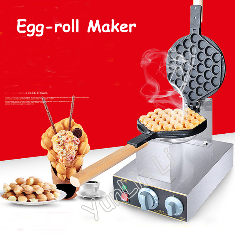 Electric Waffle Maker Non-stick Egg Roll Maker 110V/220V Good Quality Practical Cake Baker FY-6 non stick egg roll maker 110v 220v practical cake baker kitchen electric waffle maker machine with good quality fy 6