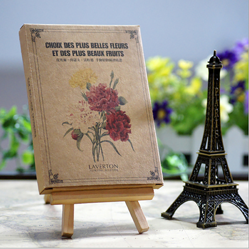 29 PCS/Set Famous Painter Postcard Series Set Botanical Illustration Postcard Retro Kraft Paper Greeting Cards Message Card