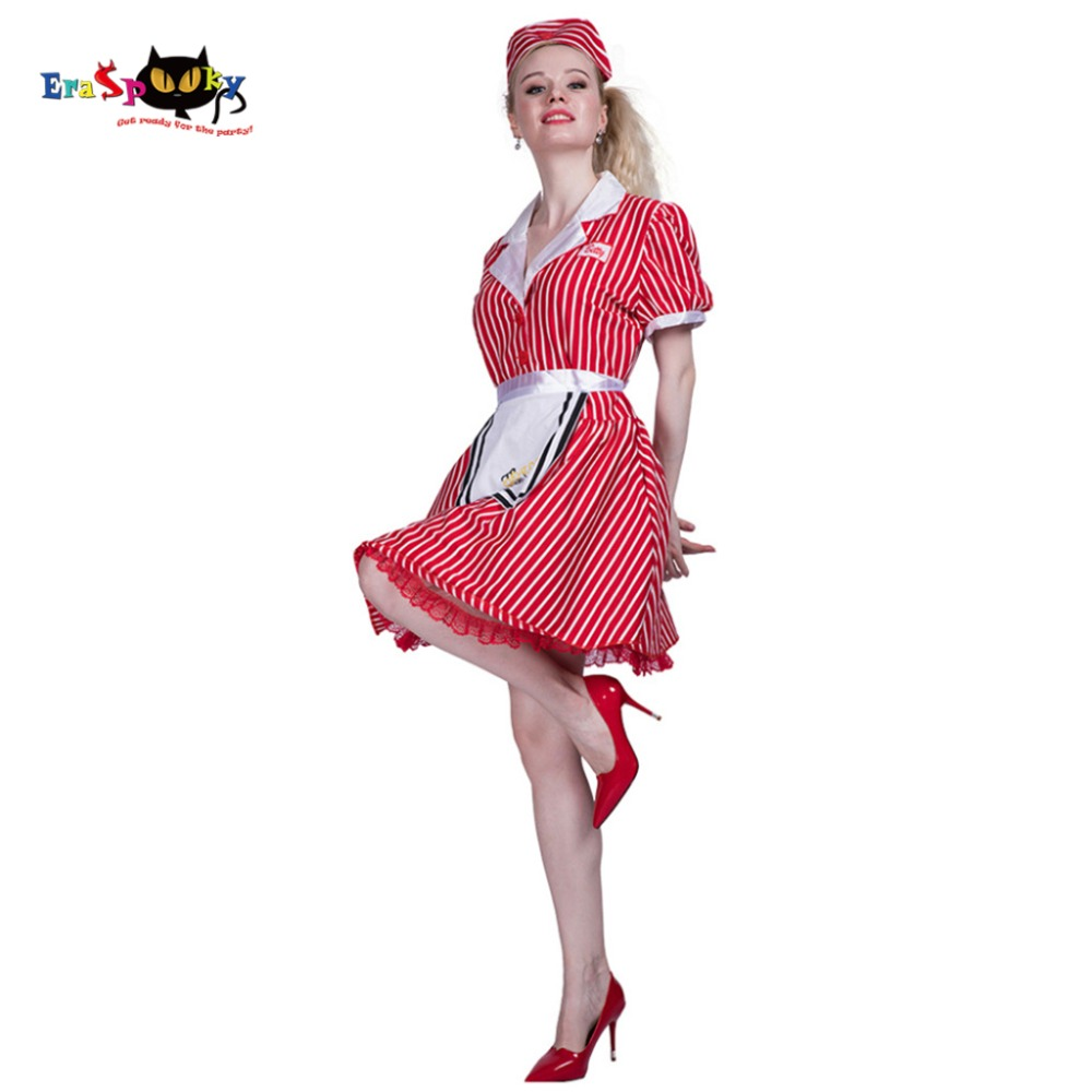 027d7f13ee6e3 Women Sexy Restaurant Cocktail Waitress Maid Costume Dress Cosplay Party  Fancy Dress Apron for Female Adult Halloween Costumes-in Holidays Costumes  from ...