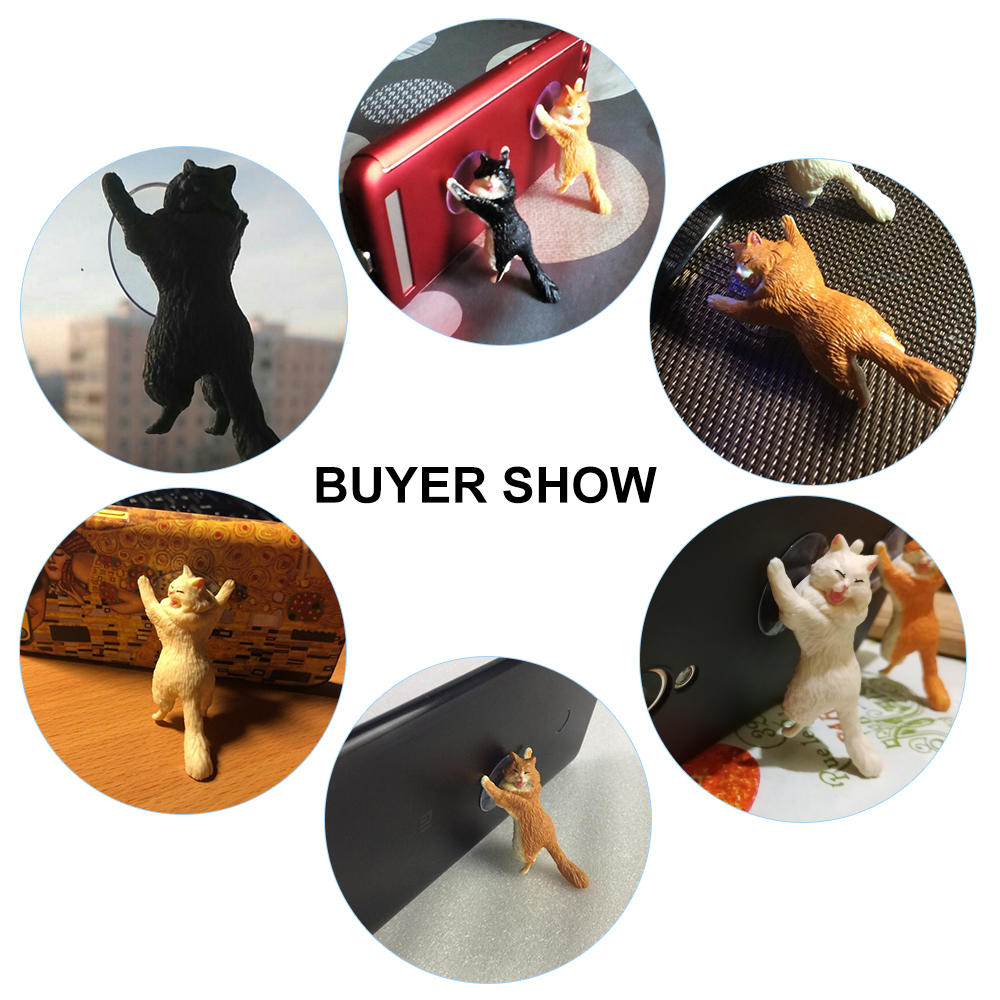 Phone Holder Cute Cat Support Resin Mobile Phone Holder Stand Sucker Tablets Desk Sucker Design high quality Smartphone Holder in Phone Holders Stands from Cellphones Telecommunications