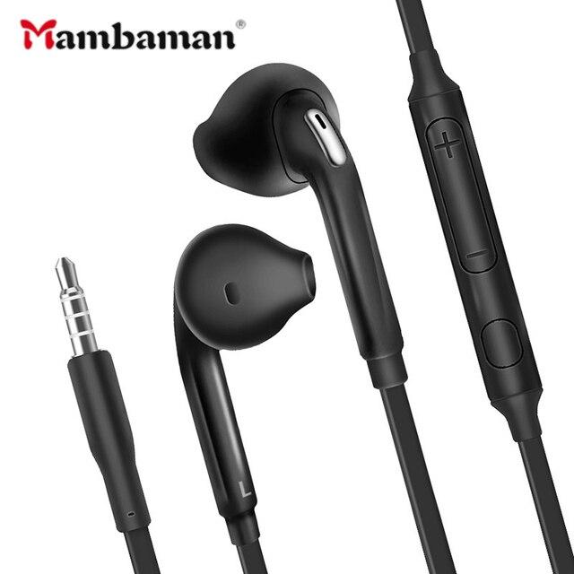S6 ספורט אוזניות עם מיקרופון 3.5mm ב אוזן קווית אוזניות אוזניות סטריאו fone דה ouvido Headpset אוניברסלי עבור xiaomi iPhone PC S4