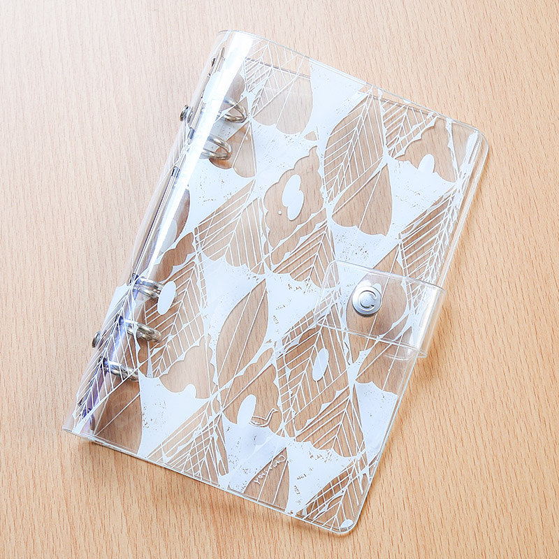 2018 Yiwi Print Planner Cover PVC Super Transparent 6 Hole Loose Leaf Notebook S