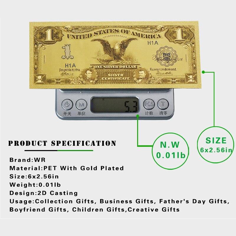 WR 1899 Jahr Einen Dollar Gefälschte Hinweis Geld 24 karat Goldenen ...