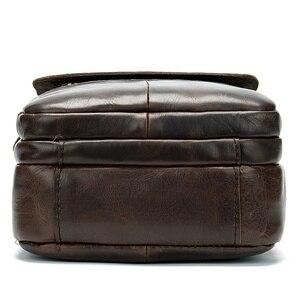 Image 5 - WESTAL shoulder bag for men Bag Mens Genuine Leather messenger bags Small Flap man male Crossbody bags leather man handbag8558