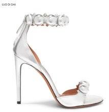 8752933b1ac 2018 new women spike stud shoes open toe high heels party shoes summer pom  pom sandals black dress shoes rivets stud sandals