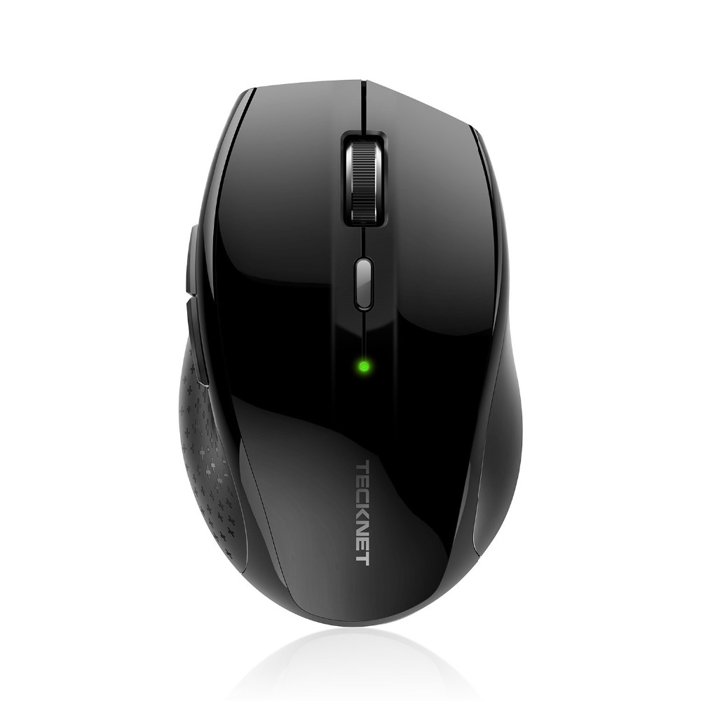 TeckNet Alpha Ergonomic 2.4G Wireless Optical Mobile Mouse with USB Nano Receiver for Laptop PC Computer 6 Buttons souris sans fil 2 4ghz usb receiver ultra thin slim mini wireless optical mouse mice for laptop pc optical gaming mouse