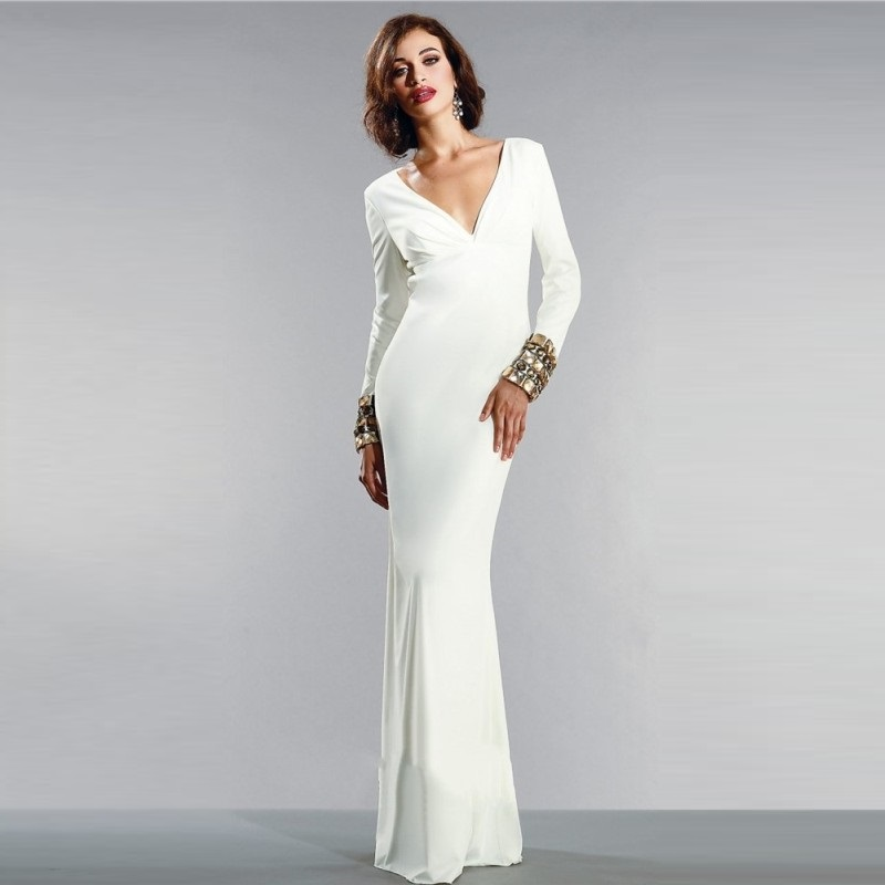 Popular Long White Evening Gowns-Buy Cheap Long White Evening ...