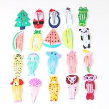 4 adet renkli popüler renkli noel karikatür alaşım şık boyalı Basitic saç klipleri saç tokaları noel şapkalar