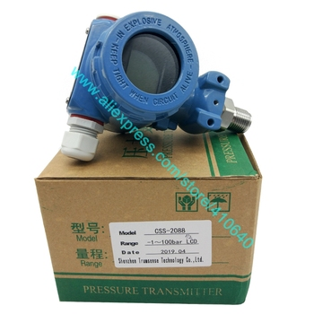 Factory Direct Delivery 4 to 20 mA LCD Display Pressure Transmitter -1 to 100 bar Diffused Silicon Pressure Transducer Ex proof