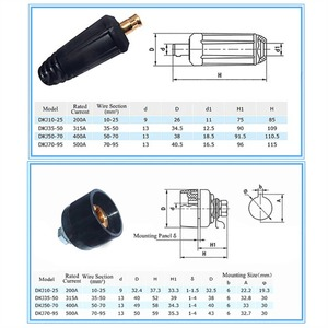 Image 3 - Europe Welding Machine Quick Fitting Female Male Cable Connector Socket Plug Adaptor DKJ 10 25 35 50 50 70 Cable Connector
