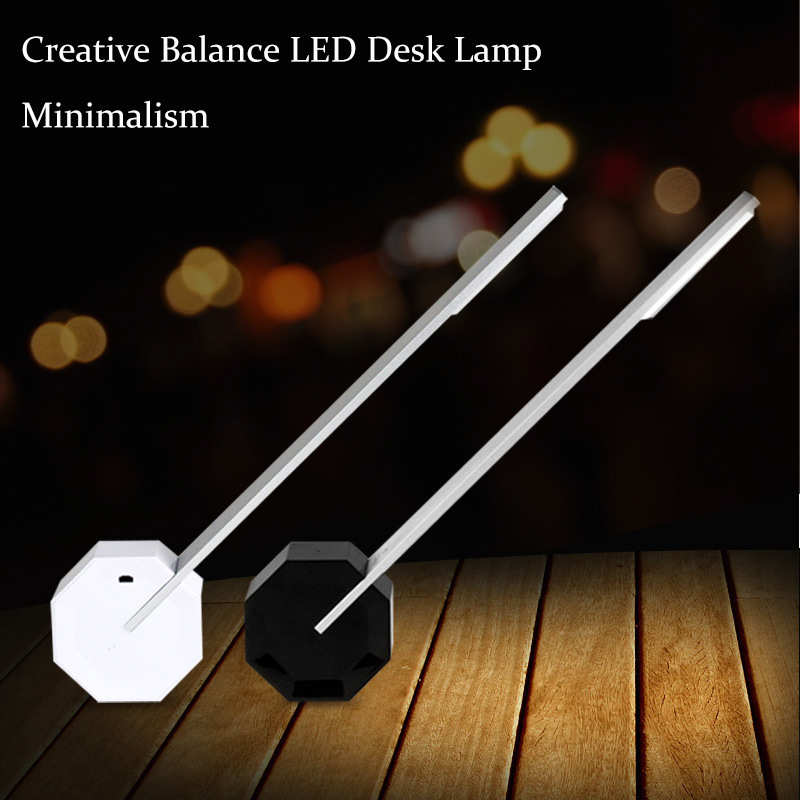 Touch Dimming Rechargeable LED Office Table Desk Lamp Creative Balance Bedside Reading Light for Study Engineer Architect 4 level brightness led office table desk lamp touch dimming rechargeable bedside reading light for study engineer architect