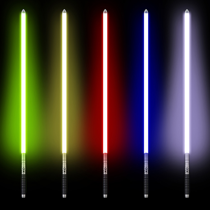 100cm Lightsaber Jedi Sith Luke Light Saber Force FX Heavy Dueling Rechargeable Color Changing Sound Lock up Metal Handle