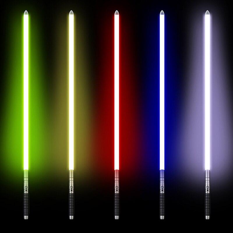 100cm sabre laser Jedi Sith Luke lumière sabre Force FX lourd duel Rechargeable couleur changeante son verrouiller la poignée en métal