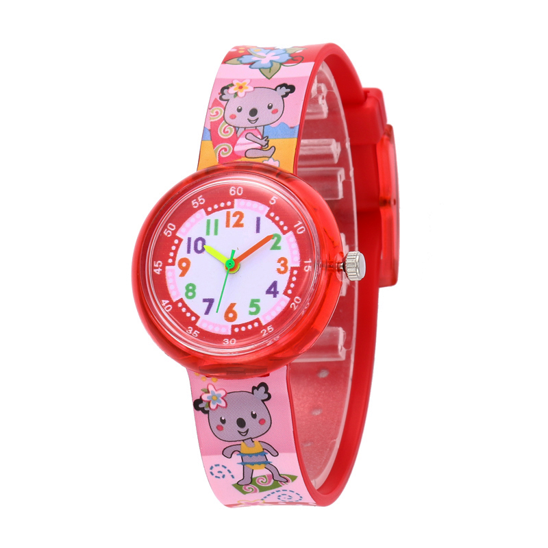 11 Designs Christmas Gift Cute Bear Girl Watch Children Fashion Watch SportS Jelly Cartoon New Boy Watch