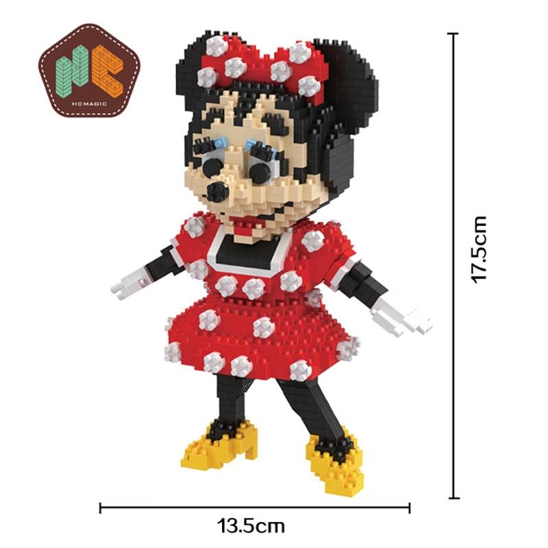 building blocks kids Minnie mouse design cartoon characters 1296pcs high quantity toy