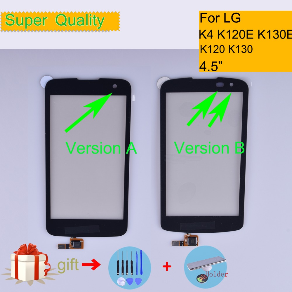 K4 For LG K4 K120 K121 K120E K130 K130E Touch Screen Touch Panel Sensor Digitizer Front Glass Outer Lens Touchscreen NO LCD