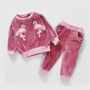 Комплект осенней одежды Babyinstar для маленьких девочек, кофта с мультяшным рисунком и штаны, костюм на День Благодарения, комплект одежды для д...