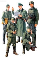 Assmeble Models of Soldiers 1:35 WWII German Field Commander 35298 Soldiers Model Blocks Kits